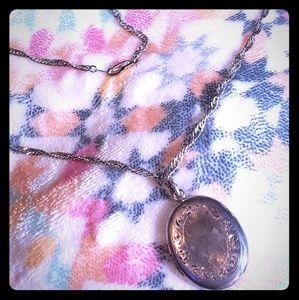 Vintage Victorian Sterling silver locket